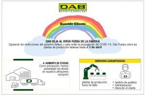 DAB PUMPS cierra las plantas de producción de Italia